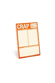 Knock Knock  Crap Notepad - Product Mini Image