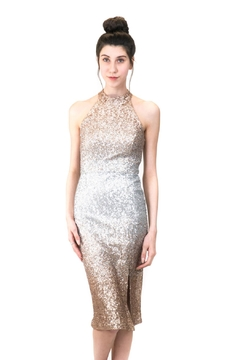 Forest Lily Crash Sequin Dress - Product List Image