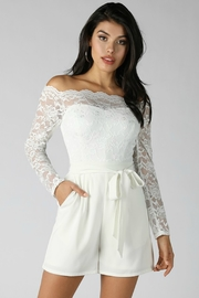 lucen  Crawford Lace Romper - Product Mini Image