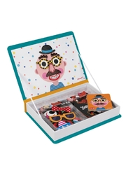 Janod Crazy Faces Magnetibook - Front full body