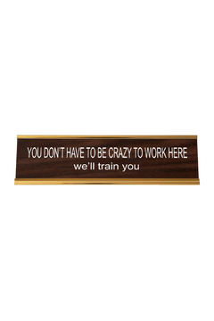Shoptiques Product: Crazy Nameplate