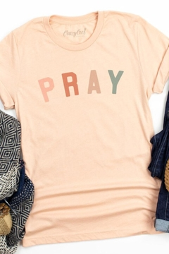 Crazy Cool Threads  Pray  Graphic Tee - Alternate List Image