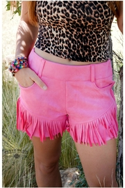 Crazy Train Cowgirl Fringe Shorts - Front full body