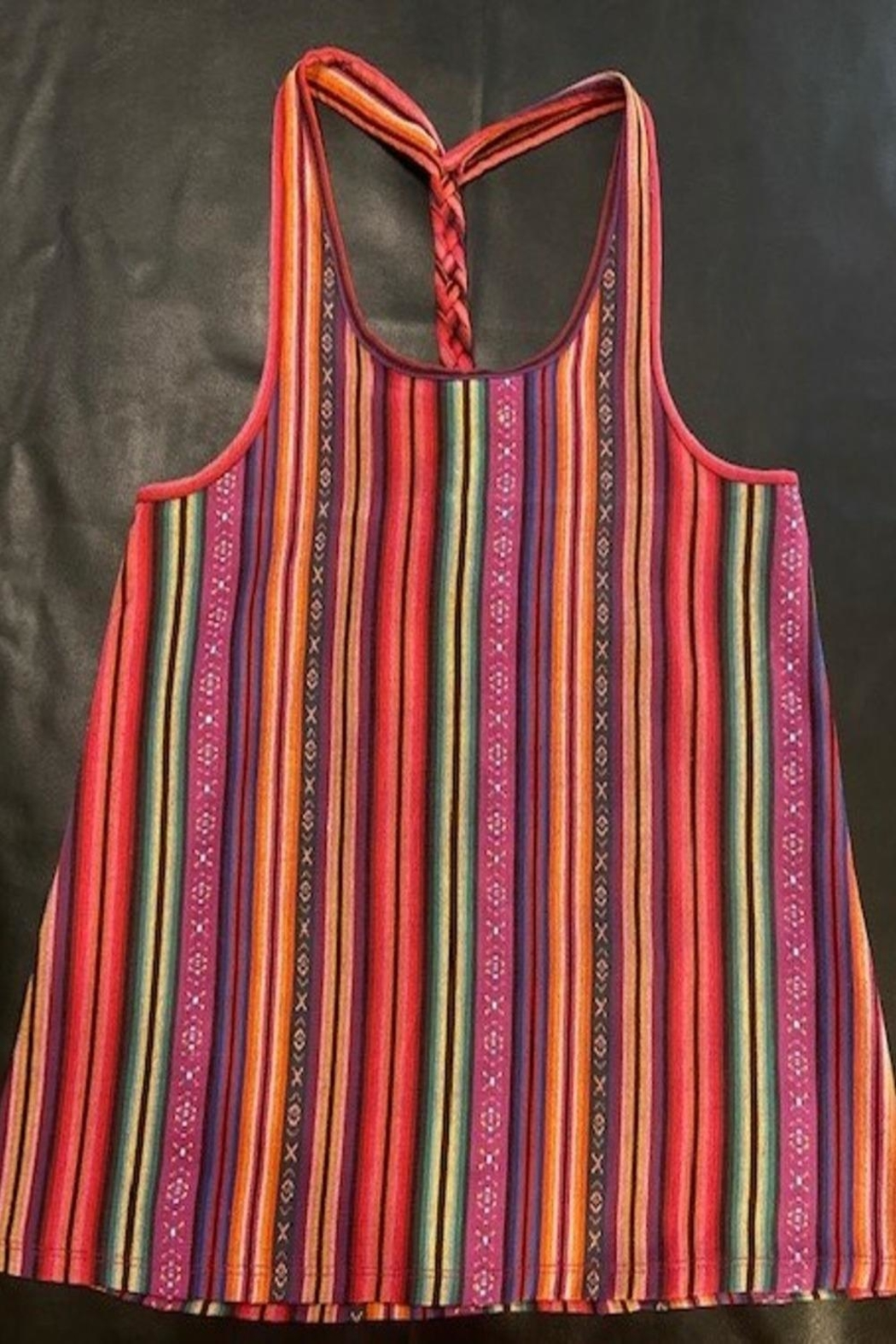 Crazy Train Serape Tank Top - Front Cropped Image