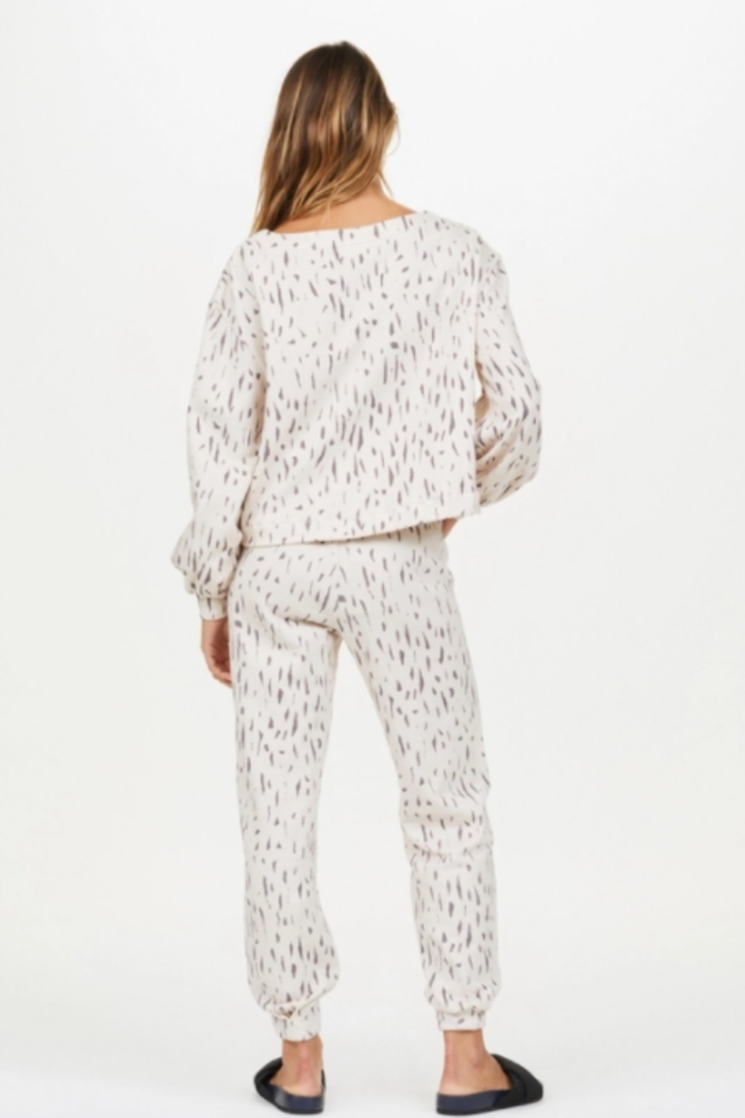 Upside Cream and Black Spotted Pull Over - Side Cropped Image