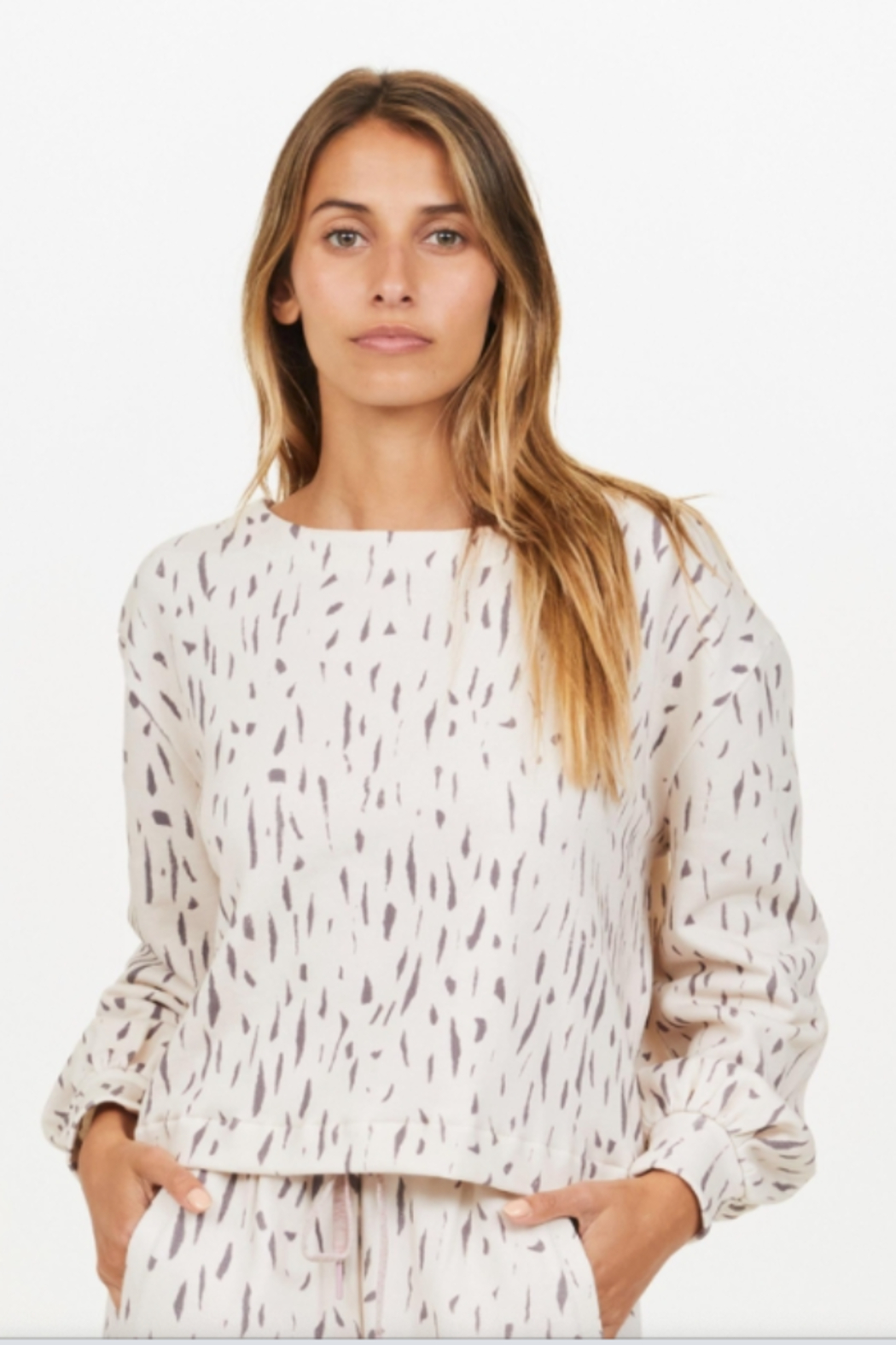 Upside Cream and Black Spotted Pull Over - Main Image