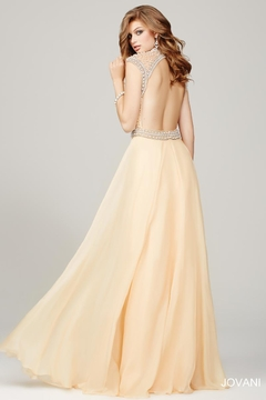 Jovani Cream and Pearl Evening Gown - Alternate List Image