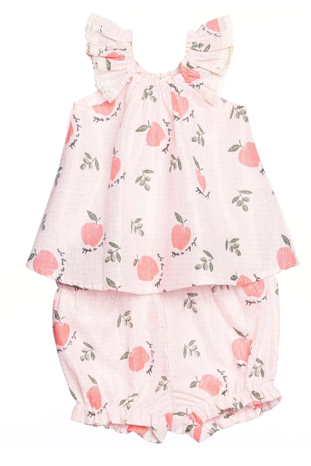 Siaomimi Cream Apple Layette Set - Front Cropped Image