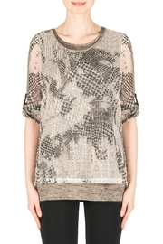 Joseph Ribkoff Cream Black Mix Top - Product Mini Image