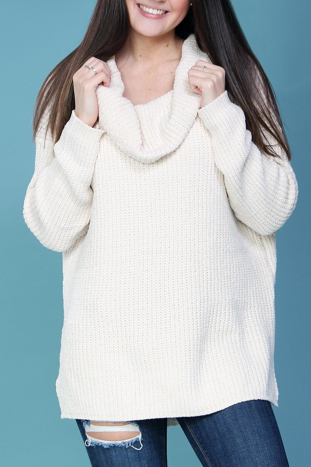 Wishlist Cream Chenille Sweater - Side Cropped Image