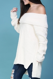 Wishlist Cream Chenille Sweater - Back cropped