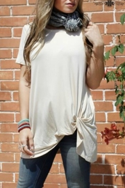 Crazy Train Cream-Colored Knotted Top - Product Mini Image