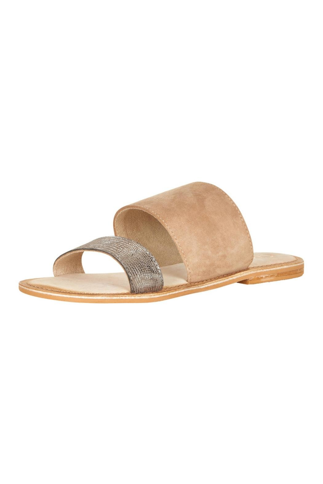 Cream Slide Sandal From Canada By Labelle Shoptiques Strape On Front Cropped Image