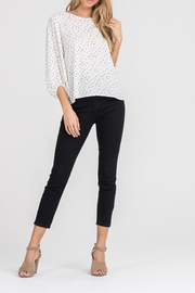 Lush Cream Dot Blouse - Front cropped
