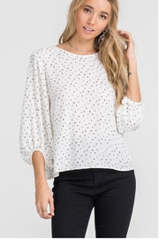 Lush Cream Dot Blouse - Front full body