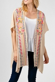 Andree by Unit Cream Embroidered Kimono - Product Mini Image