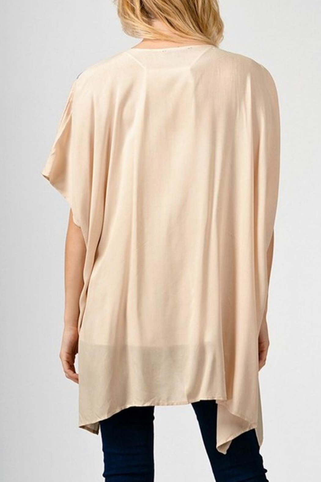 Andree by Unit Cream Embroidered Kimono - Side Cropped Image