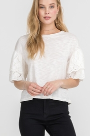 Lush Cream Eyelet Top - Product Mini Image