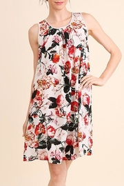 Umgee USA Cream Floral Dress - Product Mini Image
