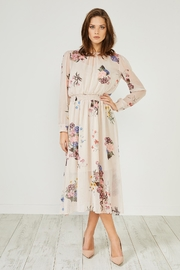 Urban Touch Cream Floral Dress - Product Mini Image