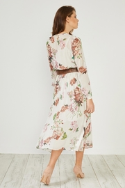 Urban Touch Cream Floral  Dress - Back cropped
