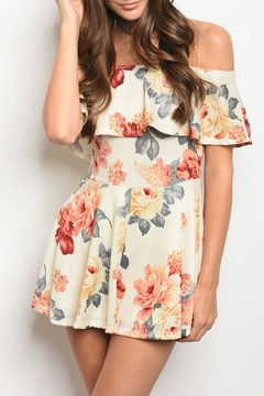 Hello Miss Cream Floral Romper - Product List Image
