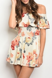 Hello Miss Cream Floral Romper - Product Mini Image