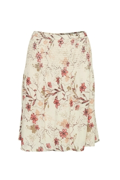 Cream Floral Skirt - Alternate List Image