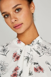 Apricot Cream Floral Top - Back cropped