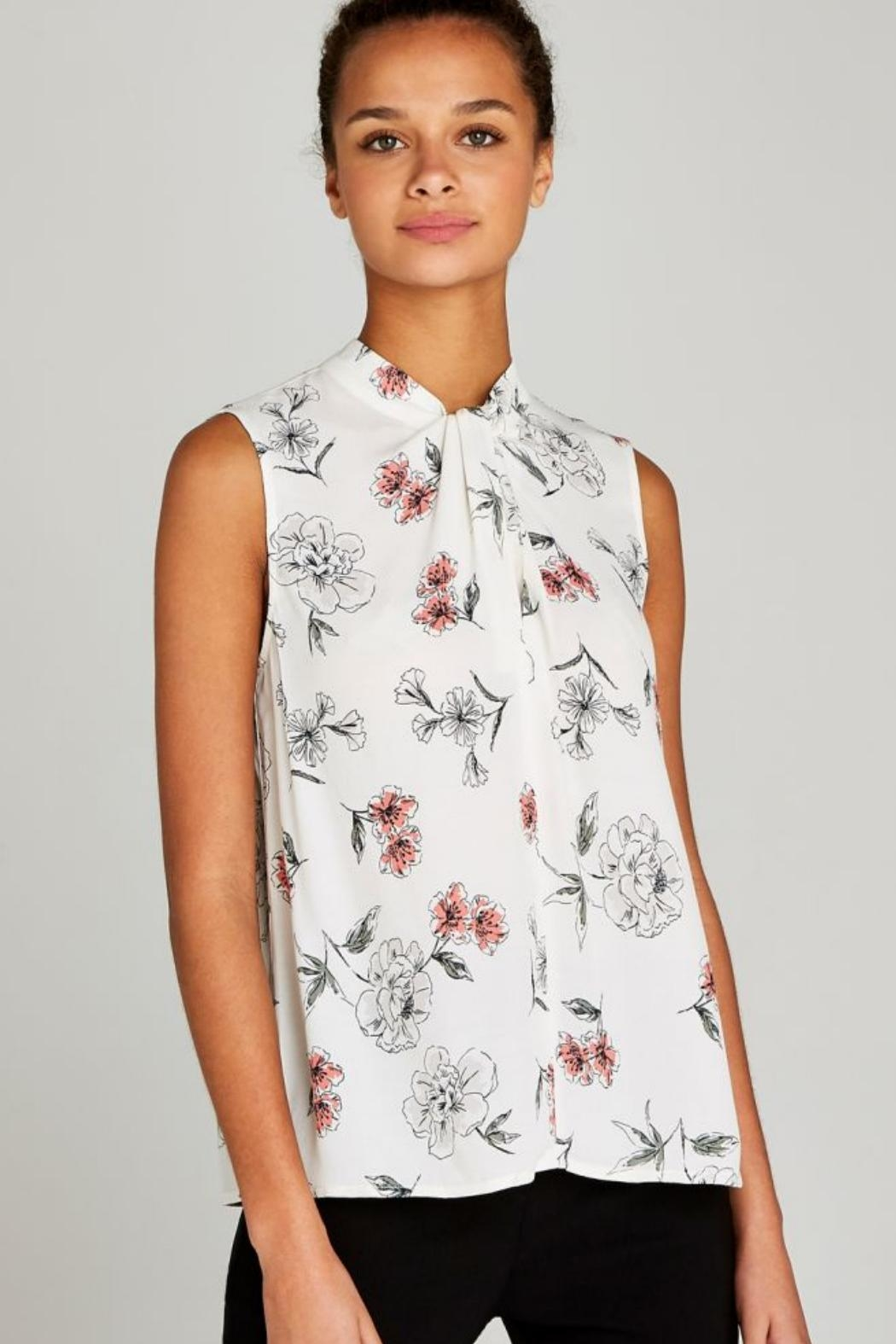 Apricot Cream Floral Top - Front Full Image