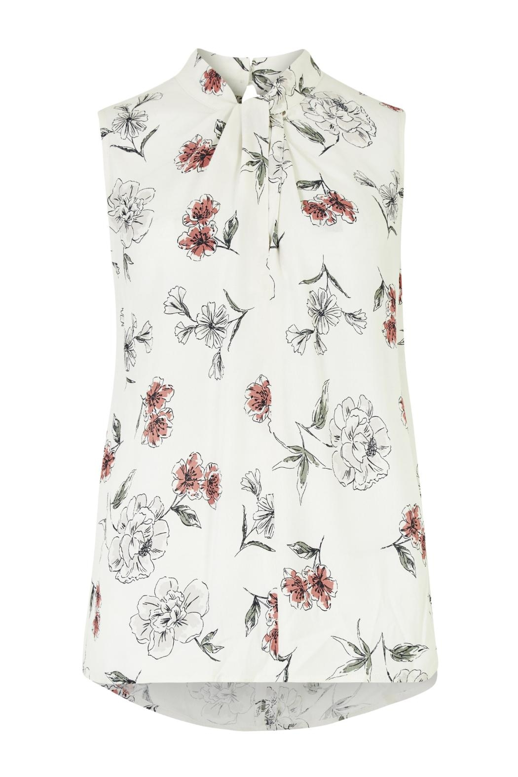 Apricot Cream Floral Top - Main Image