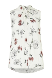 Apricot Cream Floral Top - Product Mini Image