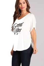 Blvd Cream Good Vibes Only Tee - Product Mini Image