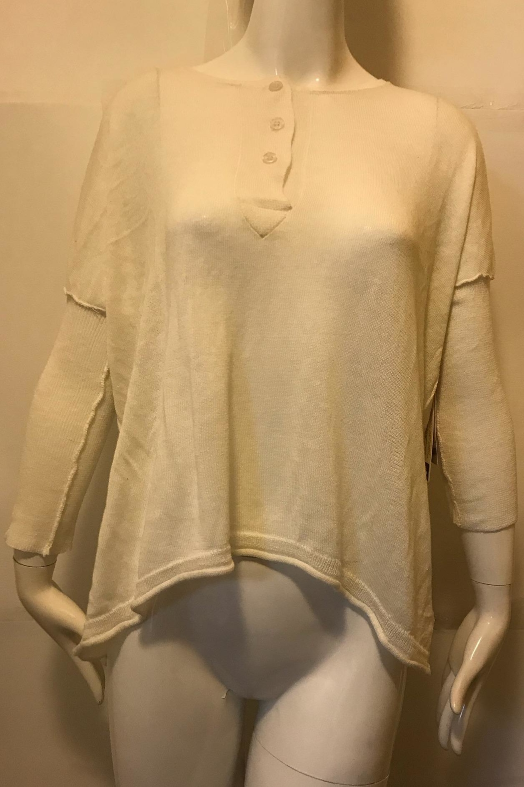 RD Style Cream Henley Top - Main Image