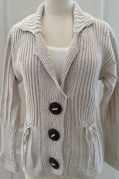 Pure Handknit Cream knit Cardigan - Alternate List Image