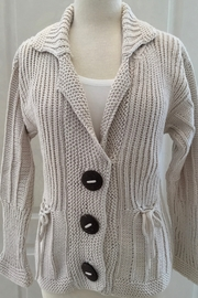 Pure Handknit Cream knit Cardigan - Product Mini Image