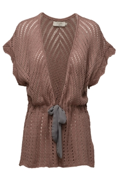Cream Knit Open Cardigan - Product List Image