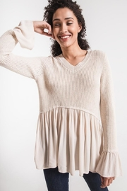 rag poets Cream Knit Sweater - Product Mini Image