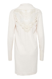 Cream Kylie Knit Cardigan - Front full body