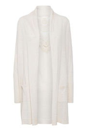 Cream Kylie Knit Cardigan - Front cropped
