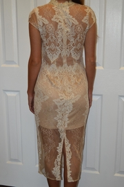 The Clothing Co Cream Lace Dress - Side cropped