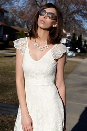 Wish Collection Cream Lace Dress - Product Mini Image