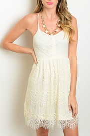 Jealous Tomato Cream Lace Dress - Product Mini Image