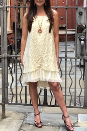 The Vintage Valet Cream Lace Dress - Front cropped