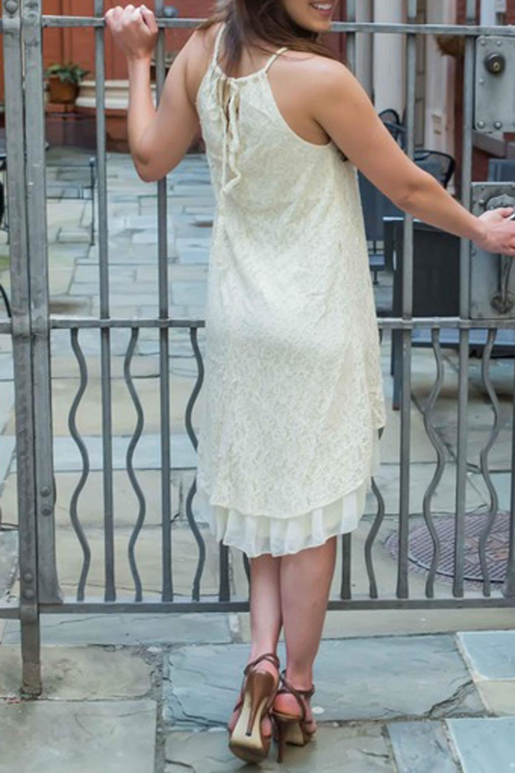 The Vintage Valet Cream Lace Dress - Front Full Image