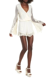 Show Me Your Mumu Cream Lace Romper - Front cropped
