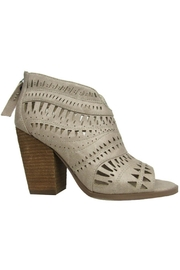Not Rated Cream Lasercut Booties - Front cropped