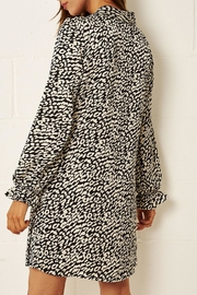 frontrow Cream Leopard-Print Dress - Front full body