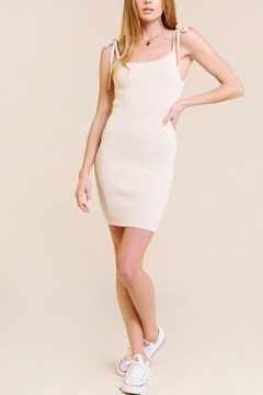Skylar Rose Cream Mini Dress - Product List Image
