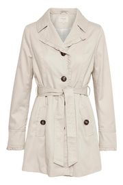Cream Noa Trenchcoat - Front cropped